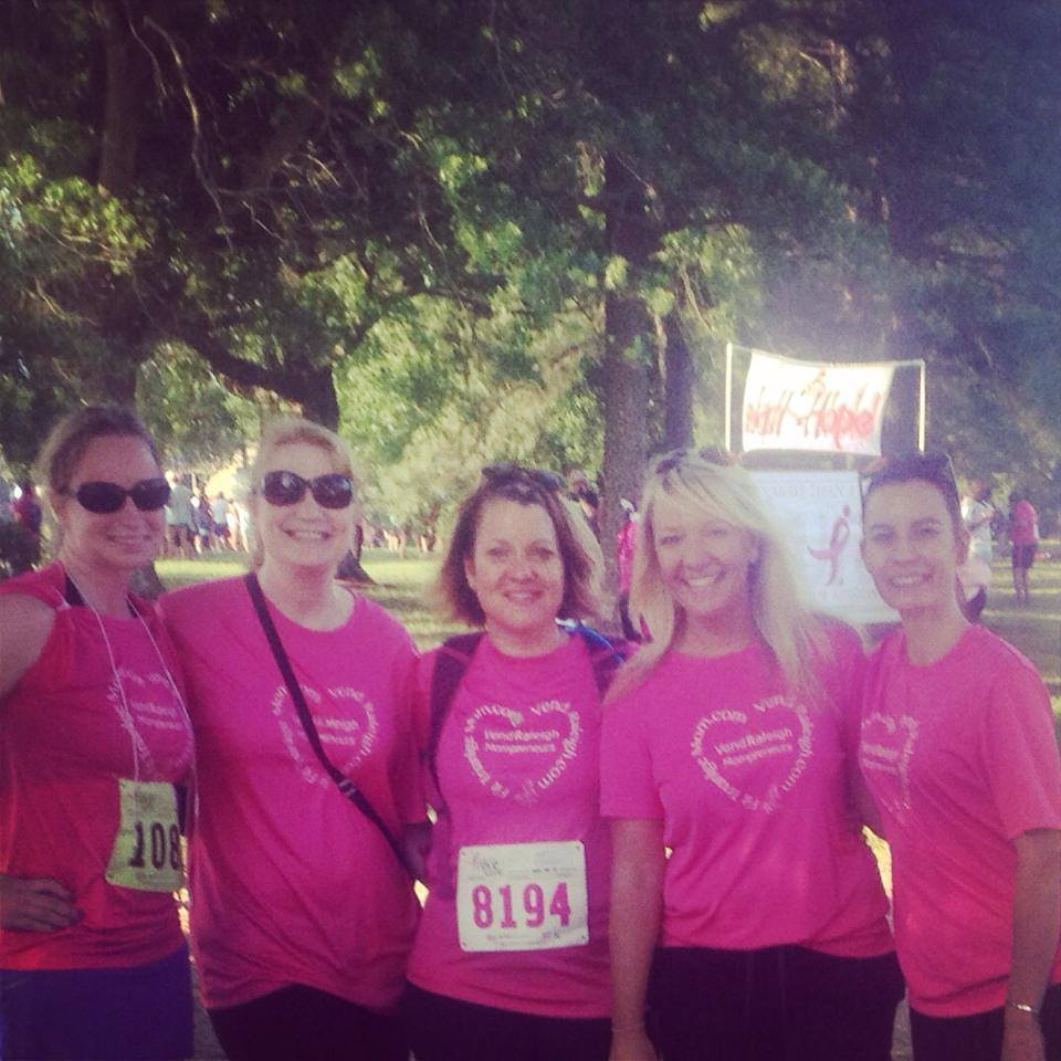 Team Vend Raleigh, Susan Komen, Fit Triangle Mom