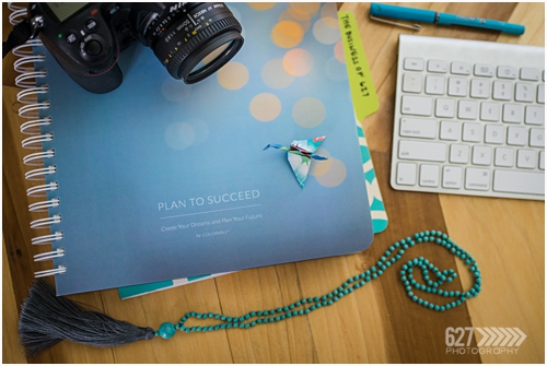 A notebook, camera and keyboard, Amy Hill Photography